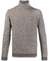 Lardini タートルネックセーター - ブラウン