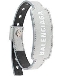 Balenciaga Браслет Cash С Тисненым Логотипом - Серый