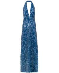 Tufi Duek Sequin Long Dress - ブルー