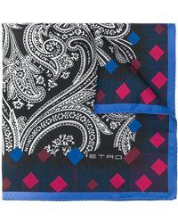 Etro Mouchoir de poche à motif cachemire - Noir