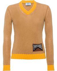 Prada - インターシャロゴ セーター - Lyst