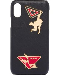 Prada Appliqués Iphone X And Xs Cover - Black