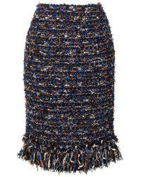 Coohem Vimar ツイードスカート - ブルー