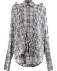 Moohong Plaid Shirt - Gray