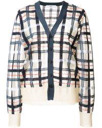 Toga - Checkered Knit Cardigan - Lyst