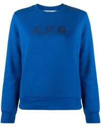 A.P.C. Interaction #5 Carhatt Wip セーター - ブルー