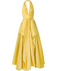 Zuhair Murad Empire-line Draped Gown - Yellow