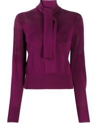 See By Chloé Tie-neck Jumepr - Purple