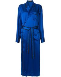Haider Ackermann サテン ローブドレス - ブルー