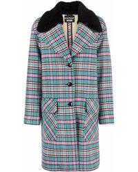 Boutique Moschino チェック シングルコート - ブルー