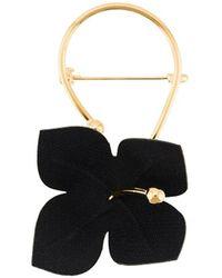 Marni Broche con forma de flor - Negro