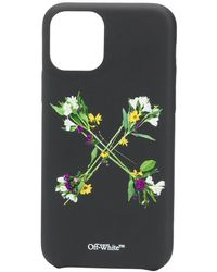 Off-White c/o Virgil Abloh Arrows floral-print iPhone 11 Pro case - Negro