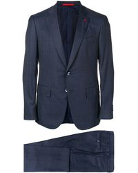Isaia - Checkered Suit - Lyst