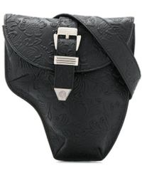 Philipp Plein Floral Belt Bag - Black