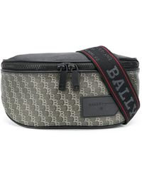 Bally ロゴ ベルトバッグ - ブラック