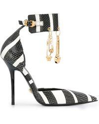 Versace - ストライプ パンプス - Lyst
