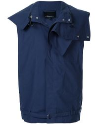 3.1 Phillip Lim Layered Funnel Neck Gilet - Blue