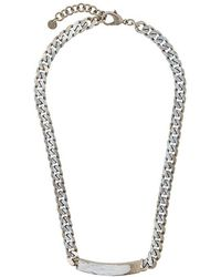 MM6 by Maison Martin Margiela - Painted Chain Necklace - Lyst