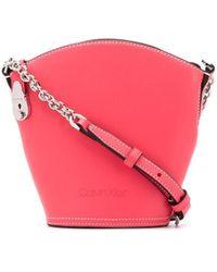 Calvin Klein Small Logo Bucket Bag - Pink
