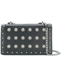 Versace Jeans Medium Croc Cross Body With Gold Button Detail in ... e4871e1cc4