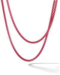 David Yurman 'DY Bel Aire' Halskette mit 14kt Rotgolddetail - Mehrfarbig