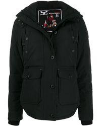 Moose Knuckles Hooded Parka Coat - Black