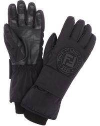 Fendi Зимние Перчатки С Нашивкой-логотипом - Черный