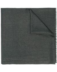 Brunello Cucinelli Шарф С Бахромой - Серый