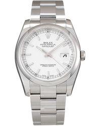 Rolex - Наручные Часы Datejust Pre-owned 36 Мм 2010-го Года - Lyst