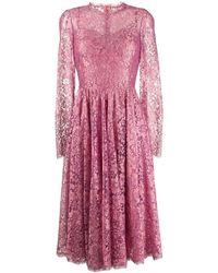 Dolce & Gabbana フローラルレース ドレス - ピンク