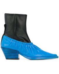JOSEPH Colour-block Ankle Boots - Black