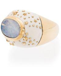Bibi Van Der Velden Anello Galaxy in oro 18kt con opale - Metallizzato
