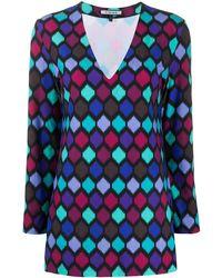 Fisico Top à motif géométrique - Bleu