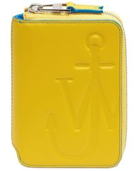 JW Anderson Anchor Logo Medium Wallet - Yellow