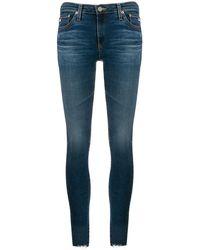 AG Jeans - クロップド スキニージーンズ - Lyst