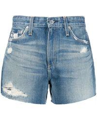 AG Jeans Shorts Alexxis a vita alta - Blu