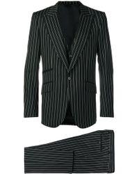 Dolce & Gabbana - Pinstriped Three-piece Suit - Lyst