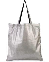 Rick Owens Large Signature Logo Tote Bag - Metallic