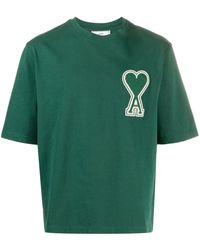 AMI - Men T-shirt With Oversize De Coeur Patch - Lyst