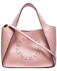 Stella McCartney - Handtasche mit Logo - Lyst