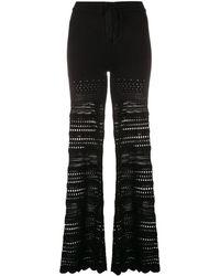 Amiri Ribbed Flared Trousers - Black