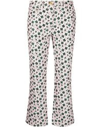 Boutique Moschino Floral-print Flared Jeans - Pink