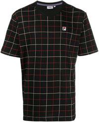 Fila チェック Tシャツ - ブラック