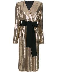 P.A.R.O.S.H. Коктейльное Платье С Пайетками - Многоцветный