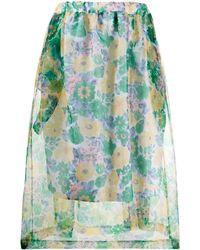 Plan C Полупрозрачная Рубашка С Цветочным Принтом - Зеленый