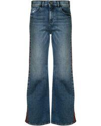 Emporio Armani Mid Rise Flared Jeans - Blue