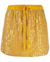 Twin Set All-over Sequin Mini Skirt - Yellow