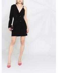 Boutique Moschino Платье С Асимметричными Рукавами - Черный