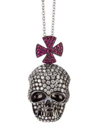 Gavello - Skull Pendant Necklace - Lyst