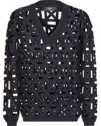 Fendi Interlock Knit Sweater - Black